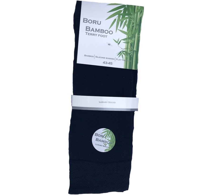 Boru Bamboo Terry Foot Sokken 1 Paar - Marineblauw - 39/42