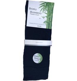 Boru Bamboo Terry foot sokken -2-pack - marineblauw - 43/45
