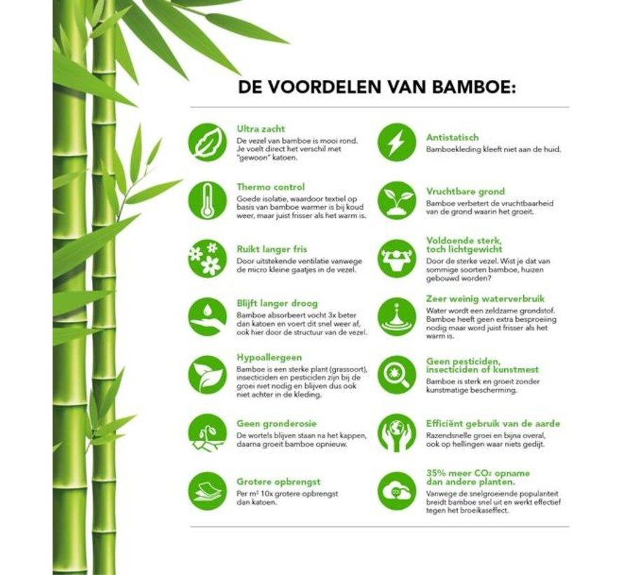 2 Paar Boru Bamboo Sneakersokken Zwart | Maat 36/40