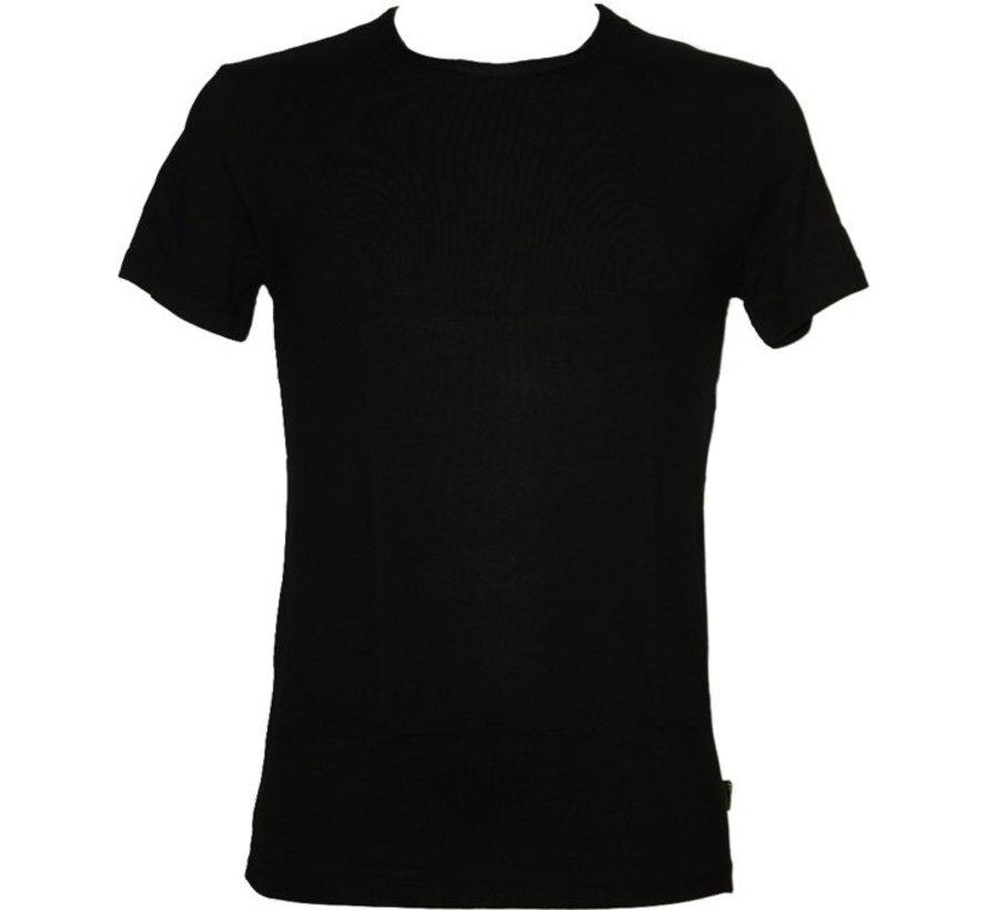 Boru Bamboo Heren T-Shirt Maat . S Zwart Korte Mouw Ronde Hals