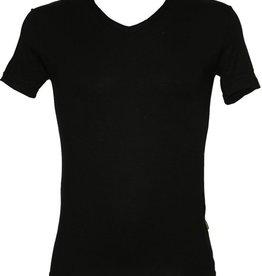 Bamboo Boru | T-Shirt V-Hals | Zwart | Maat L