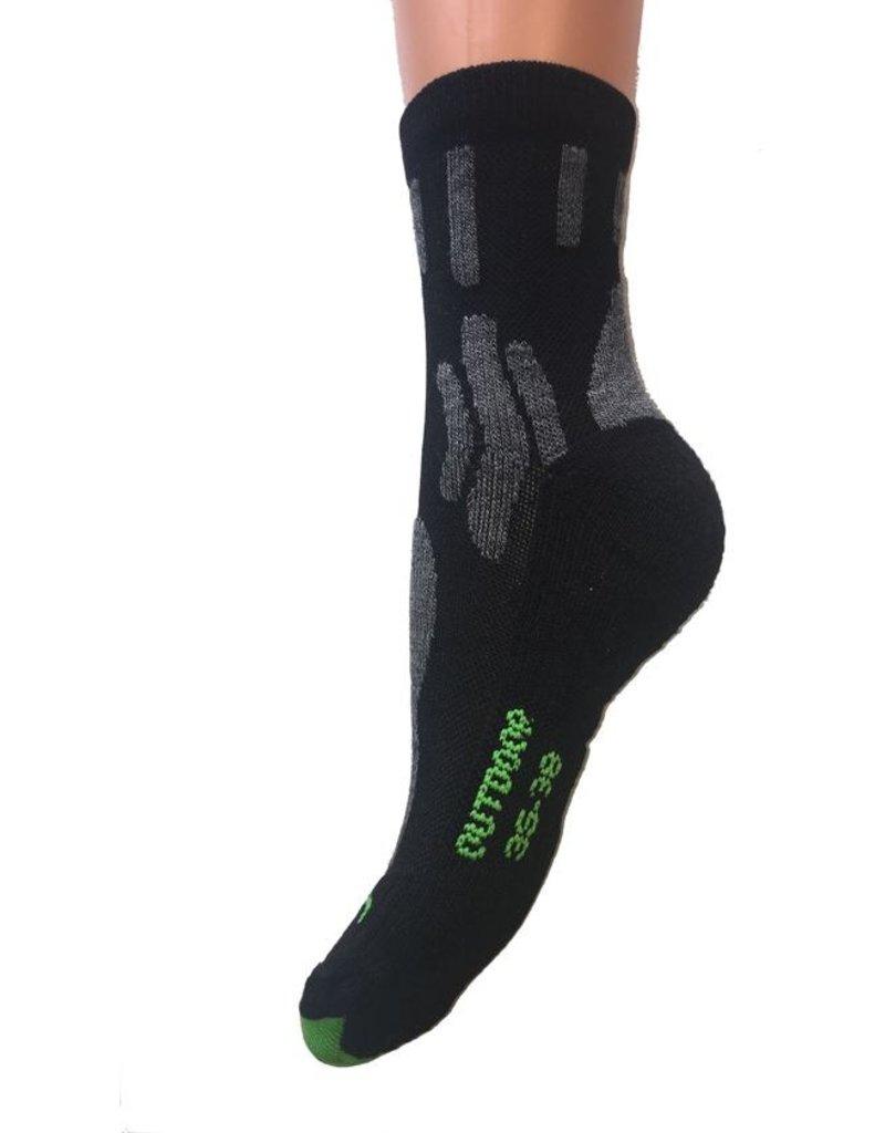 Outdoor sokken van Bamboe 46-47 zwart 2 paar