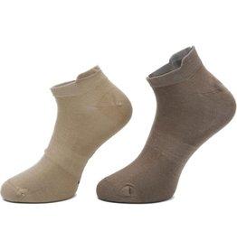 Boru Bamboe Sokken Short met lipje Beige (3 paar)-40/46
