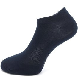Boru Bamboe Sokken Short met lipje Marine (3 paar)-36/40