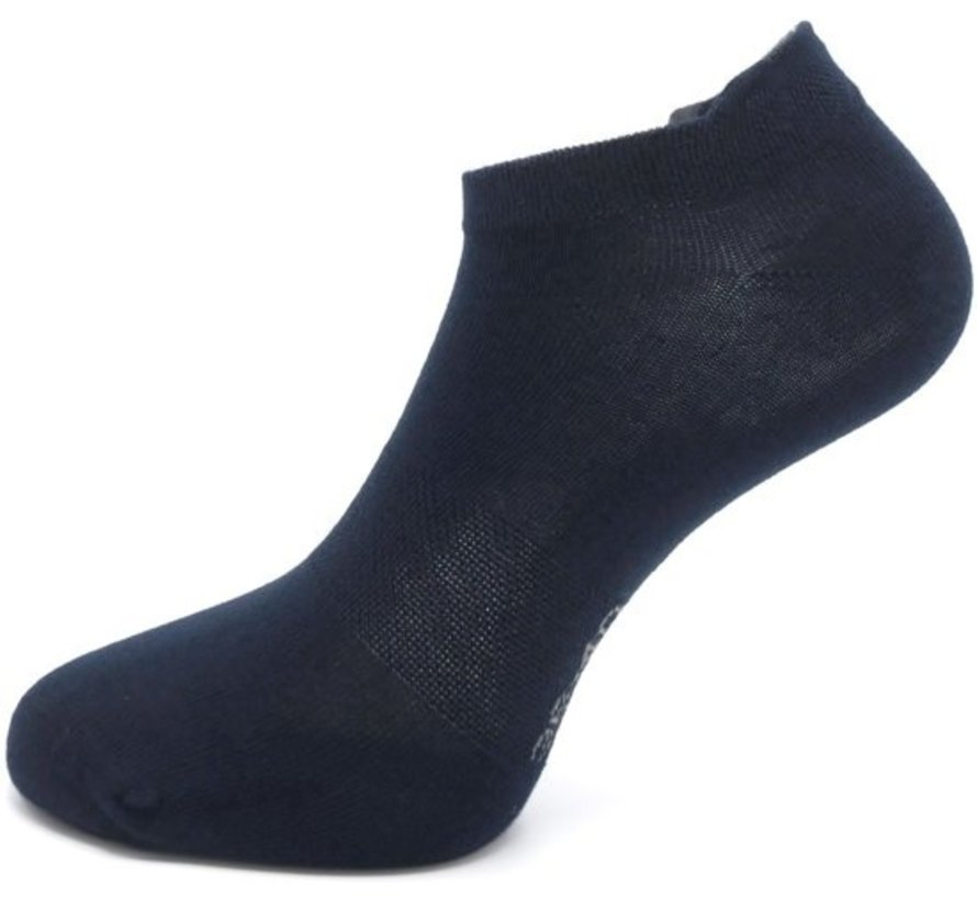 Boru Bamboe Sokken Short met Lipje Marine (2 Paar)-40/46