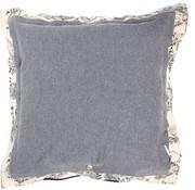 Stapelgoed Bloom - Dekokissen - 75 x 75 cm - Grau