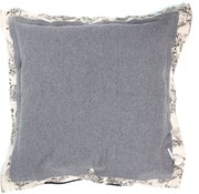 Stapelgoed Bloom - Throw Pillow - 75 x 75 cm - Gray
