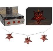 Ledverlichting \ Kerstverlichting 10x LED met ster | Kleur rood