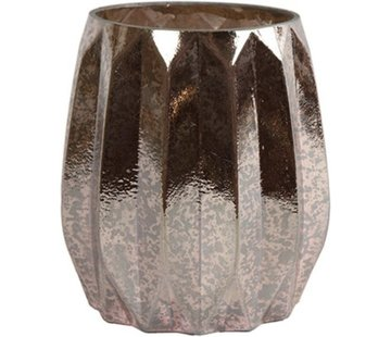 Decostar Waxinelichthouder - Glas - 11 x 11 x 13 cm