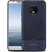 Just in Case Motorola Moto G6 Plus-unverwüstliche Rüstungs TPU Case - Blau