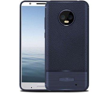 Just in Case Motorola Moto G6 Plus Rugged Armor TPU Case - Blue