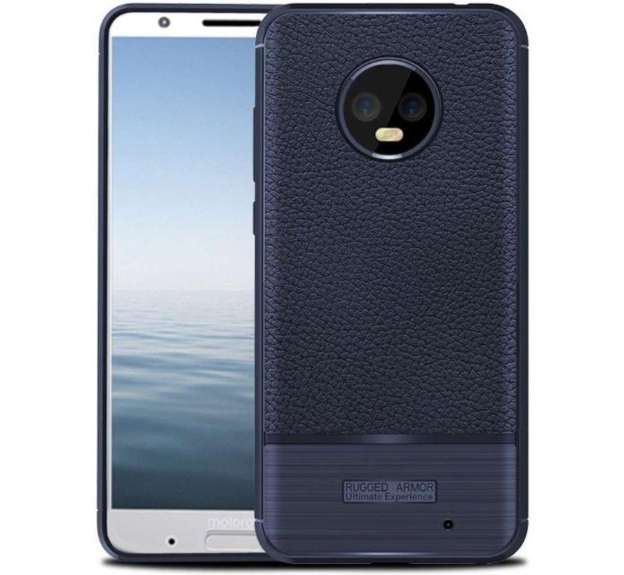 Just in Case Motorola Moto G6 Plus Rugged Armor Tpu Hoesje - Blauw