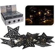 2 stuks Led lampjes met metalen ster