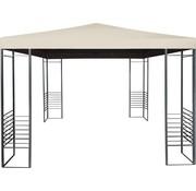 Beige Partytent Paviljoen met antraciet steunen| 3.0m x 3.0m
