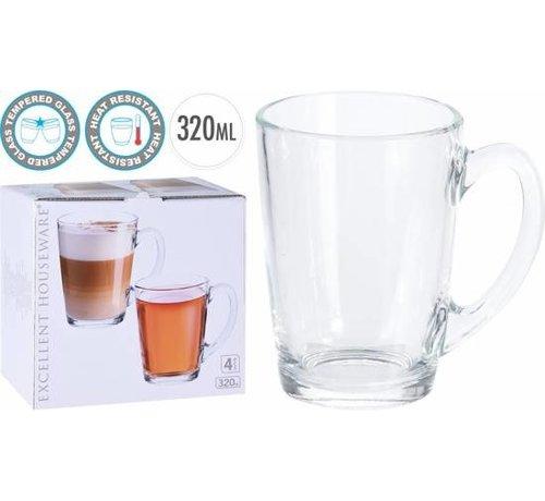 Koffie- Theeglazen (4 Stuks)