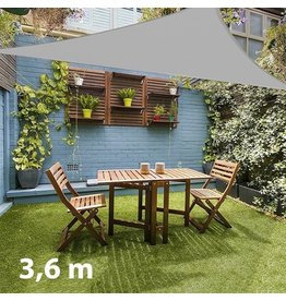Driehoekig Schaduwzeil voor de Tuin  (3,6 m)