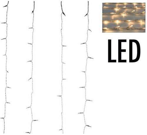 Gordijnverlichting - 220Led - 200 x 100 cm - Warm Wit