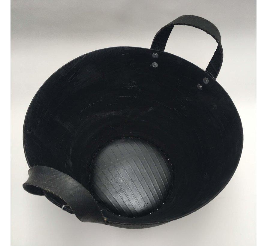 Rubberen Mand Zwart H&S Ø 40 cm | Hoogte 29 cm