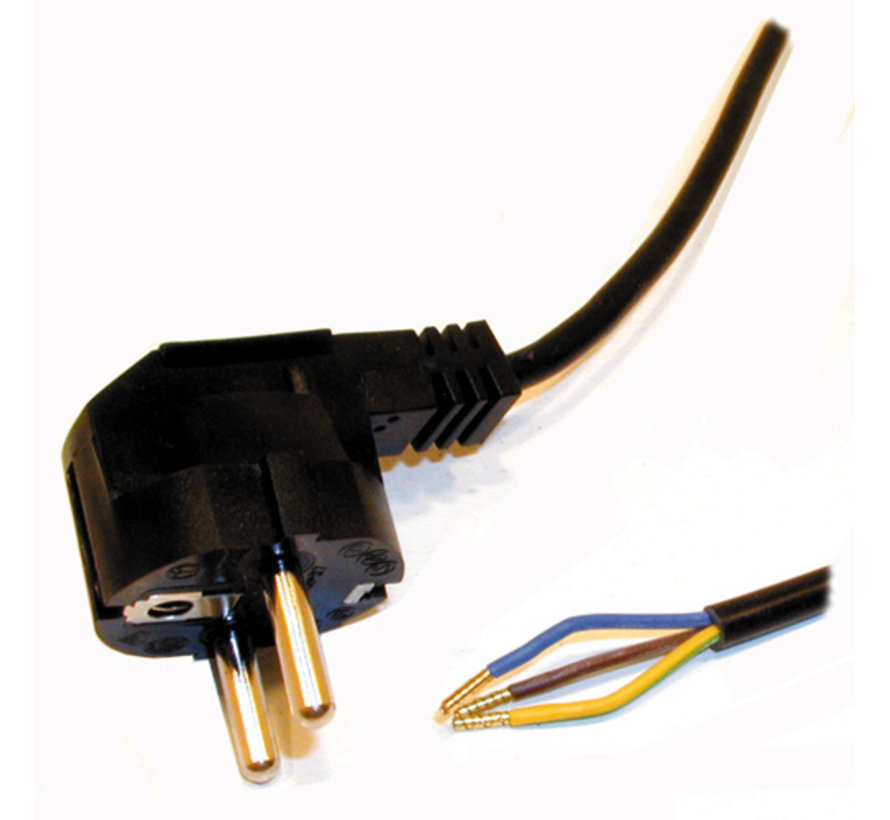 Black Power cable with Earthing | 1.5 Meter