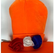 Orange Hat with 3 Roses | Holland