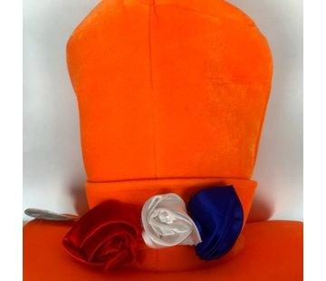 Orange Hut mit 3 Rosen | Holland