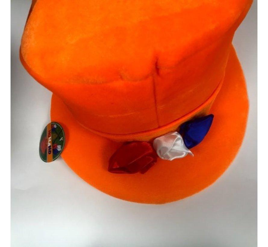 Oranje Hoed met 3 Rozen   Holland