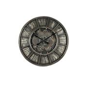 Clock Wanduhr Ø 60cm Metal Gears Industrie-Grau