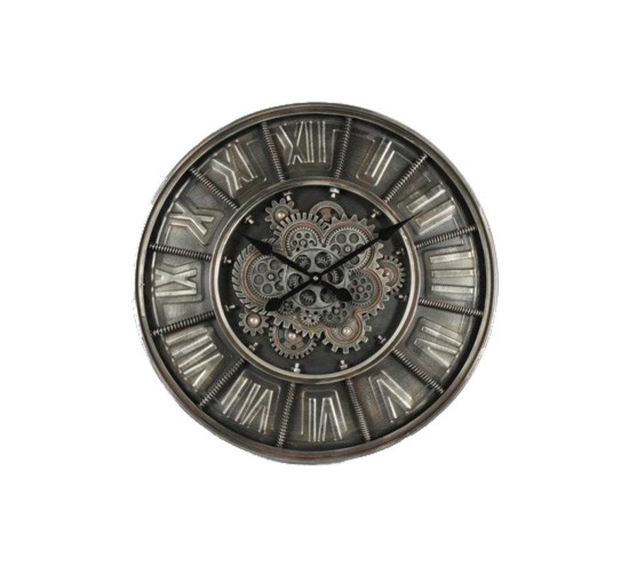 Clock - Wall Clock - Sprockets - Ø 60cm - Metal - industrial - Gray