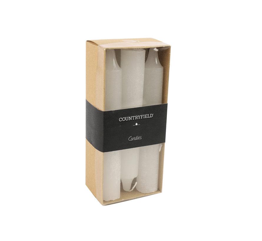 Set van 6 kaarsen Countryfield 14cm | Wit