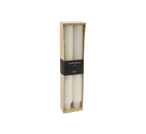 Countryfield Set bestehend aus zwei Kerzen Country 25cm | Weiß