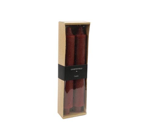 Countryfield Set van 2 kaarsen Countryfield 25cm | Aubergine