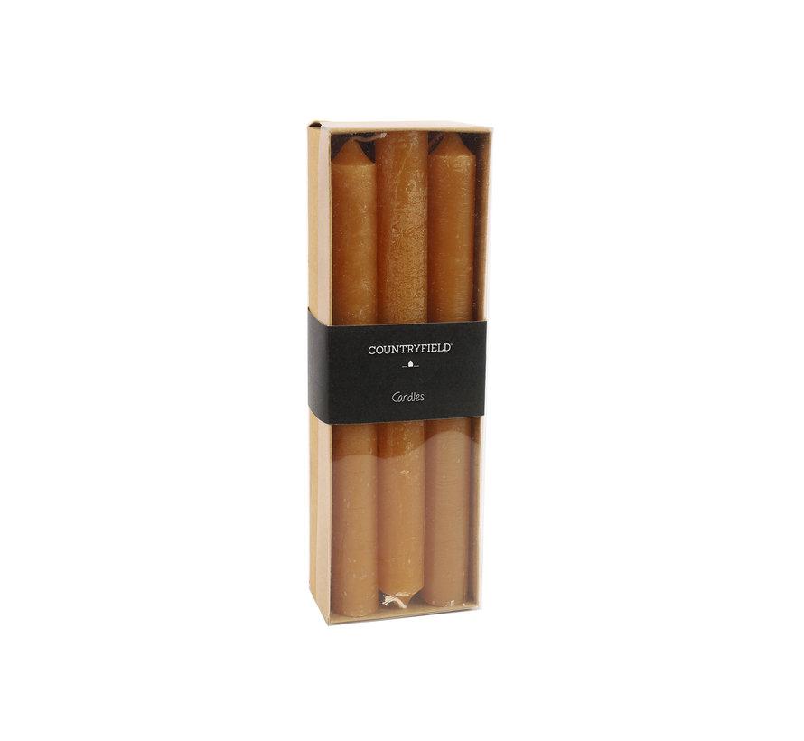 Set van 6 kaarsen Countryfield 20cm | Amber
