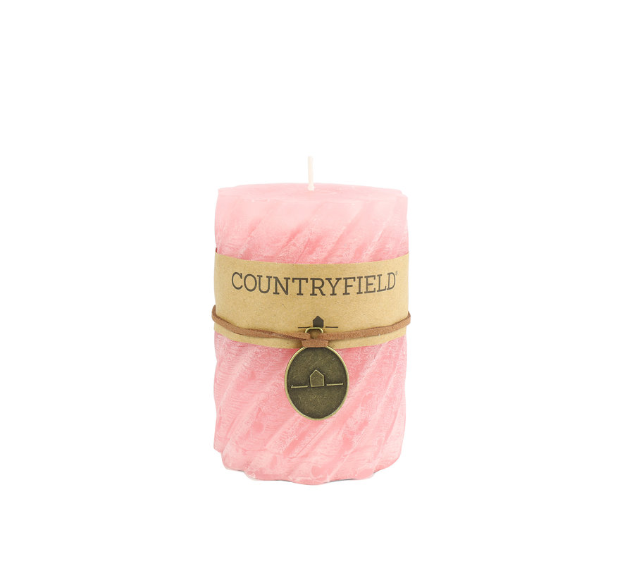 Countryfield Stompkaars met ribbel Roze Ø7 cm | Hoogte 10 cm