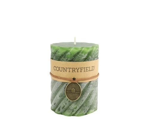 Countryfield Countryfield Stompkaars met ribbel Groen Ø7 cm | Hoogte 15 cm