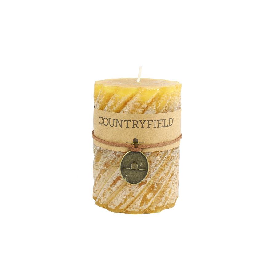 Countryfield Stompkaars met ribbel Amber Ø7 cm | Hoogte 15 cm