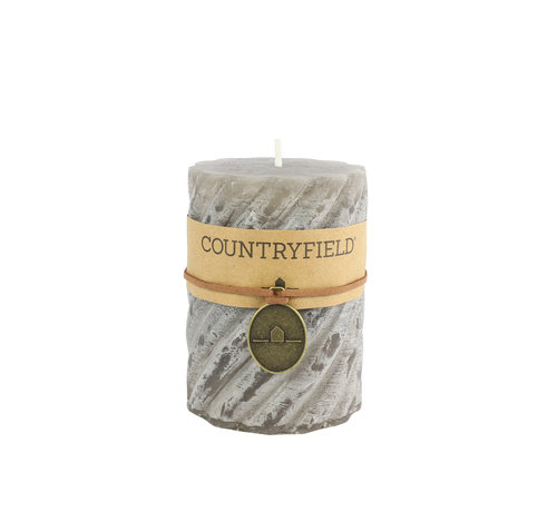Countryfield Countryfield Stompkaars met ribbel Grijs Ø7 cm | Hoogte 7,5 cm