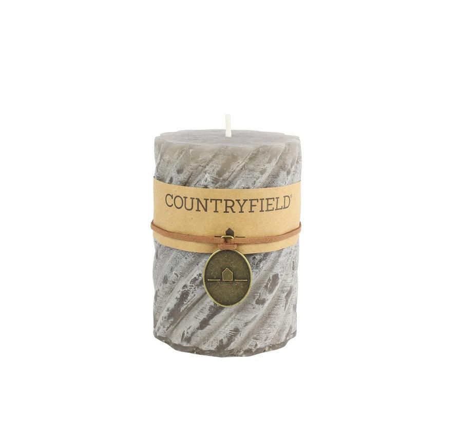 Countryfield Stompkaars met ribbel Grijs Ø7 cm | Hoogte 7,5 cm