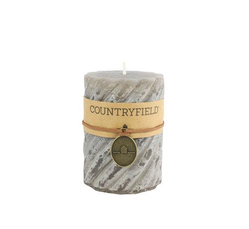 Countryfield Countryfield Stompkaars met ribbel Grijs Ø7 cm   Hoogte 10 cm