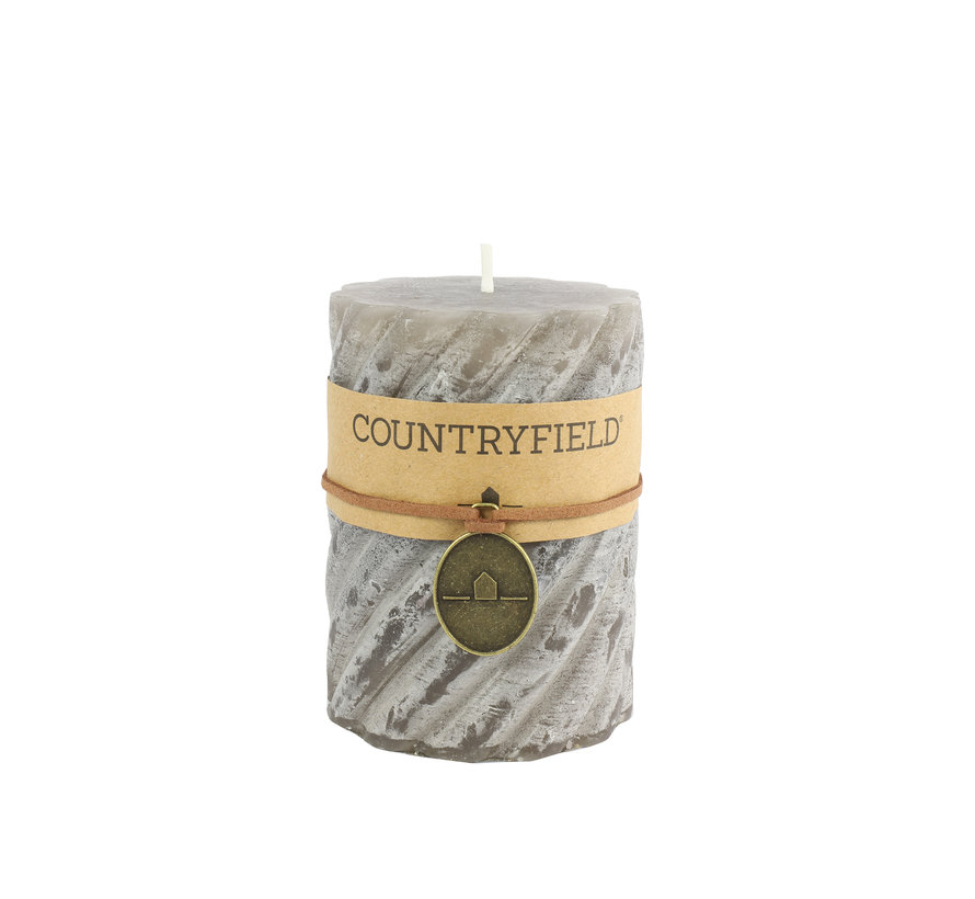 Countryfield Stompkaars met ribbel Grijs Ø7 cm   Hoogte 10 cm