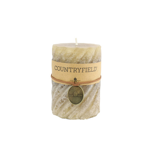 Countryfield Country Stompkaars mit Rippe Beige Ø7 cm | Höhe 7.5 cm