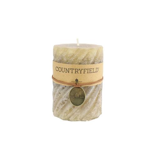 Countryfield Countryfield Stompkaars met ribbel Beige Ø7 cm | Hoogte 10 cm
