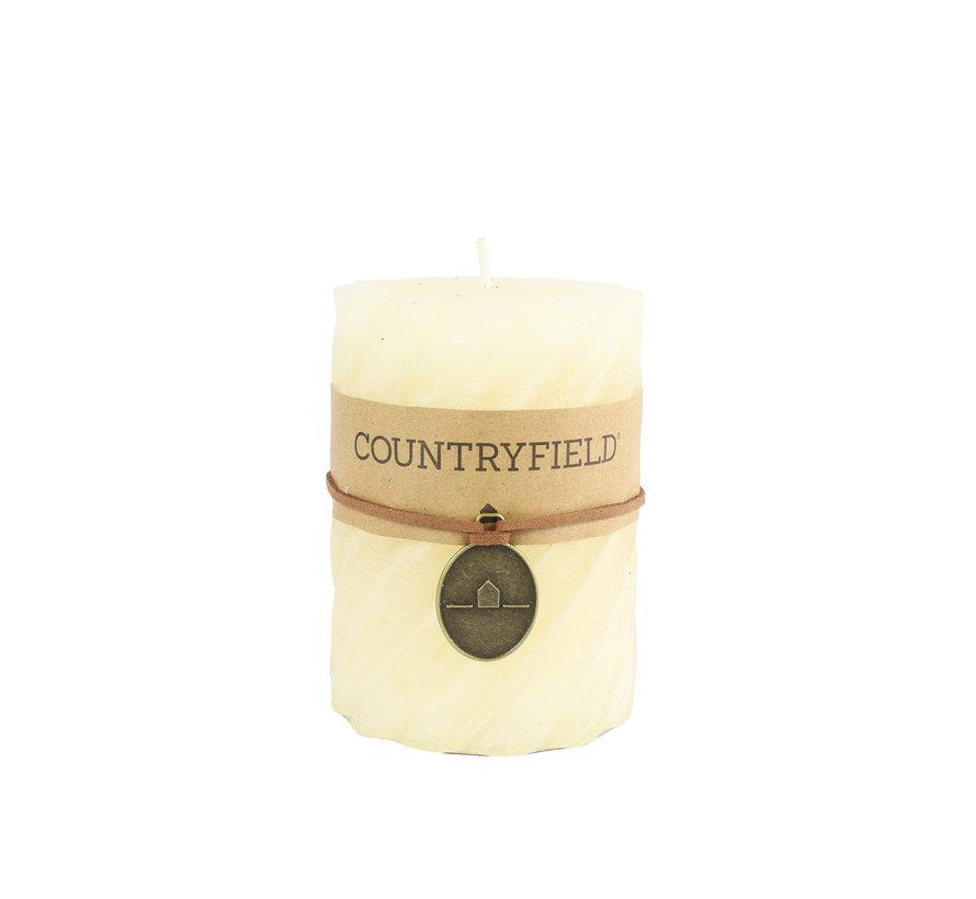 Countryfield Stompkaars met ribbel Crème Ø7 cm | Hoogte 15 cm