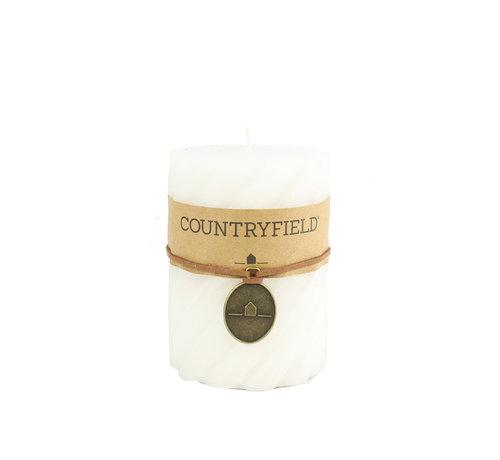Countryfield Countryfield Stompkaars met ribbel Wit Ø7 cm | Hoogte 10 cm