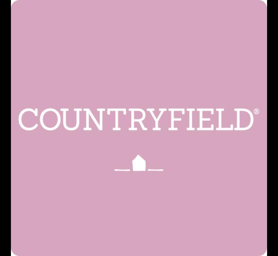 Countryfield Stompkaars met ribbel Wit Ø7 cm | Hoogte 10 cm