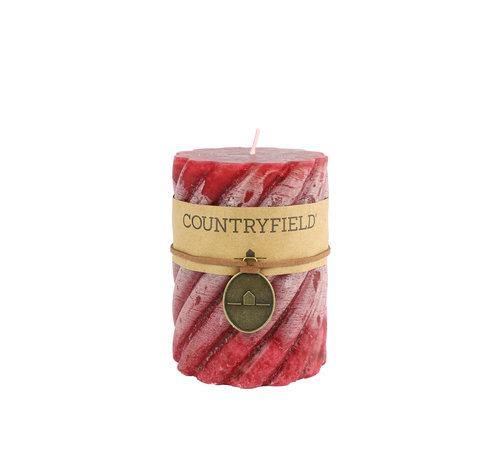 Countryfield Countryfield Stompkaars met ribbel Rood Ø7 cm   Hoogte 10 cm