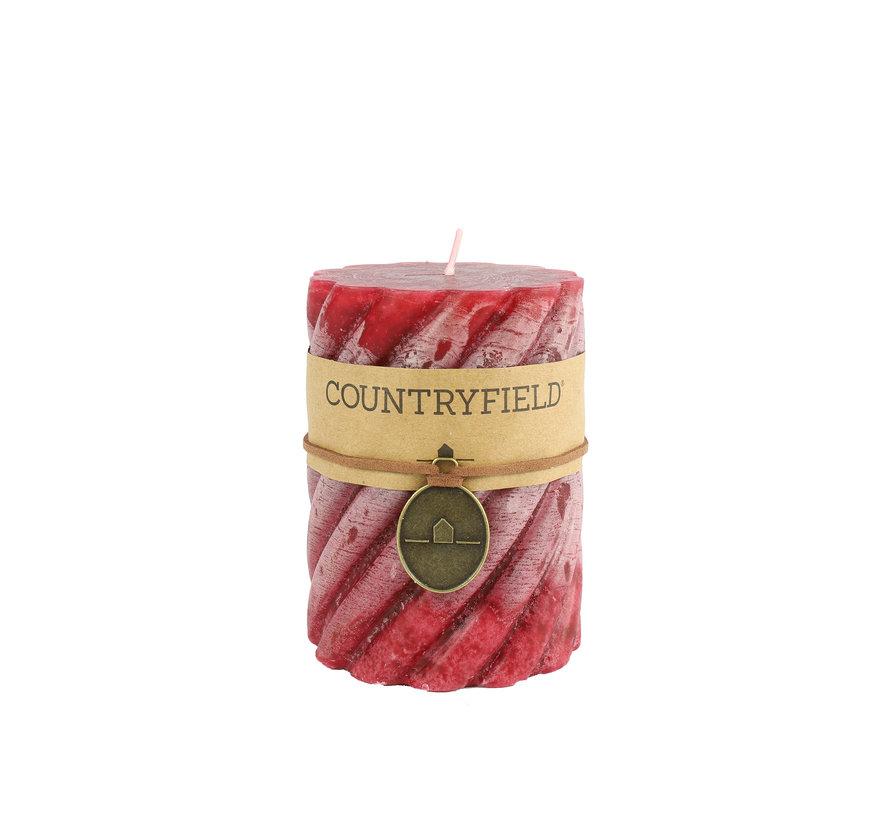Countryfield Stompkaars met ribbel Rood Ø7 cm | Hoogte 15 cm