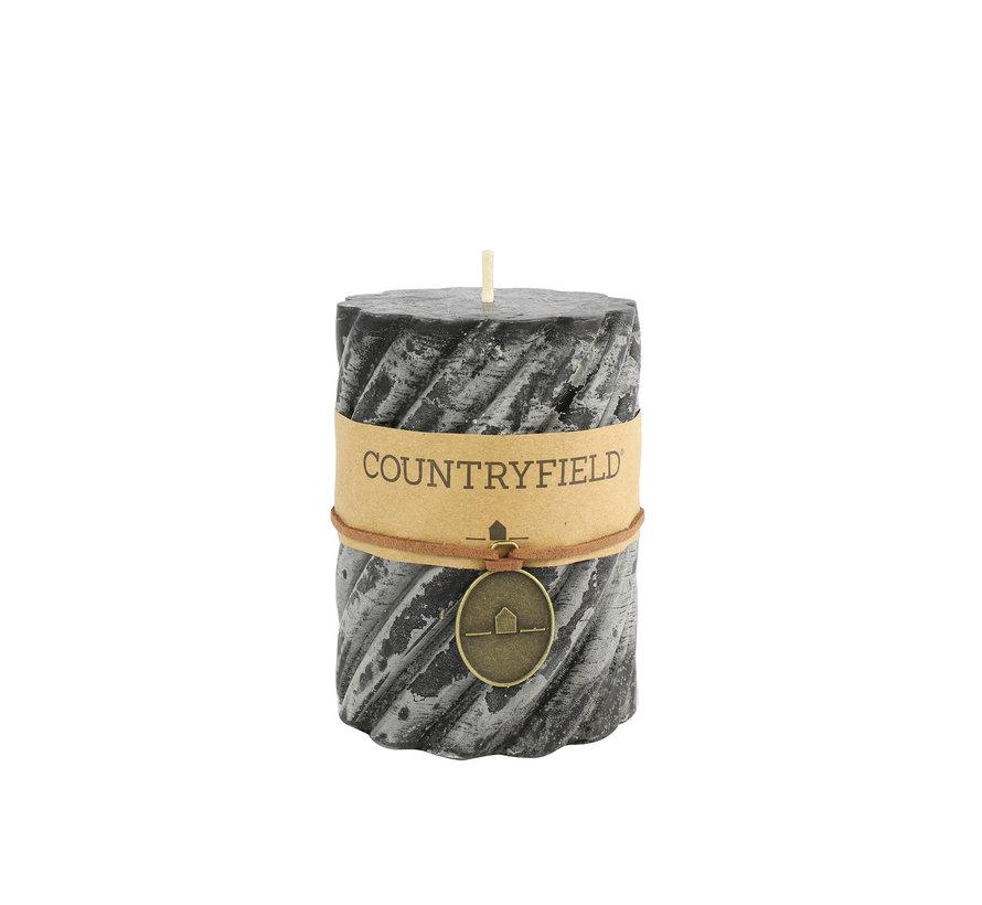 Countryfield Stompkaars met ribbel Zwart Ø7 cm   Hoogte 10 cm