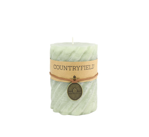 Countryfield Countryfield Stompkaars met ribbel Lichtgroen Ø7 cm | Hoogte 7,5 cm