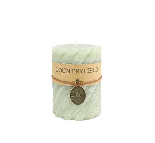 Countryfield Countryfield Stompkaars met ribbel Lichtgroen Ø7 cm   Hoogte 10 cm