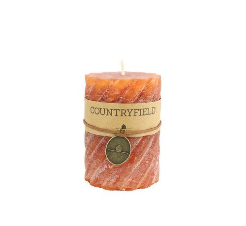 Countryfield Countryfield Stompkaars met ribbel Roest Ø7 cm   Hoogte 10 cm